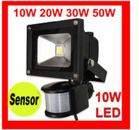 Wholesale price Black W W W W LED Sensor Floodlight PIR motion Park Security Flood Light V IP65 Range M
