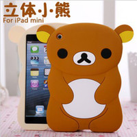 Protective Shell/Skin 7.9'' For Apple Cheap 3D Cartoon Silicon Rubber PC Case Back Cover Cases Shell Skin Little Bear Rilakkuma for Apple ipadmini ipad mini Protector