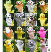 Unisex 3-4 Years Gray hand Plush puppet donkey animal combination Large cloth bag tell story dolls toys doll for children