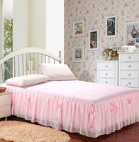 Wholesale Welcome to buy new polyester Chiffon Lace Princess Garden Bed Skirt bedspread multi color selection