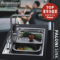 Wholesale Sink stainless steel monocolpate vegetables basin kitchen sinks one piece pl8050c bundle