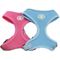 Wholesale MOQ Air Mesh Soft Dog Harness Reflective Edge Line Colors Available