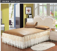 Wholesale Welcome to buy new printing lace idyll Princess lace bedspread BED SKIRT BEADED sequined skirt