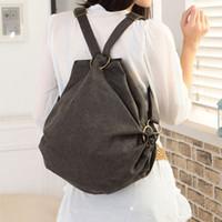 Plain anti theft handbags - Anti theft canvas bag backpack travel school bag backpack women s handbag national trend bag