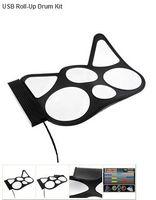 Wholesale PC Desktop USB Roll Up Digital Drum Pad Kit with DrumStick