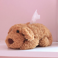 Wholesale Teddy dog Doll Tissue Box Case Napkin Paper Holder Cover Home Decor toy