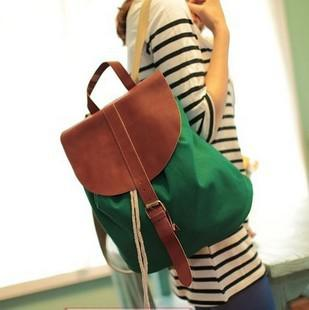 2013 Canvas Bag Women's Leather Backpack Women's Handbag ...