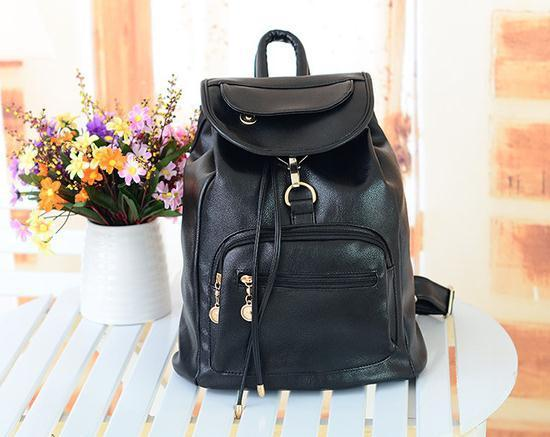 Preppy Style Women PU Leather Backpacks , Lady British Vintage ...