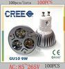 Wholesale 10pieces High Power GU10 LED X3W W dimmable Spotlight Led lighting