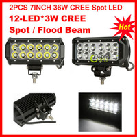 Wholesale 2pcs quot LED W CREE LED Work Light Bar Off Road SUV ATV WD x4 Jeep Boat Spot Flood Beam V lm IP67 Driving Truck Fog Lamps