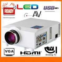 Wholesale China factory price mini projector with USB HDMI VGA AV TV