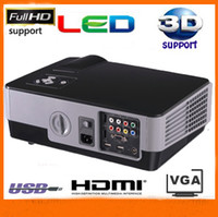 Wholesale full HD Red Blue D support led projector video projector with HDMI USB VGA AV TV ports