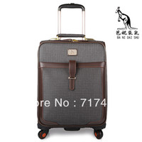 Wholesale Dark yellow letter business casual universal wheels trolley luggage suitcase