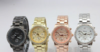 Wholesale new fashion GENEVA diamond alloy watch watch of wrist of men and women watch color