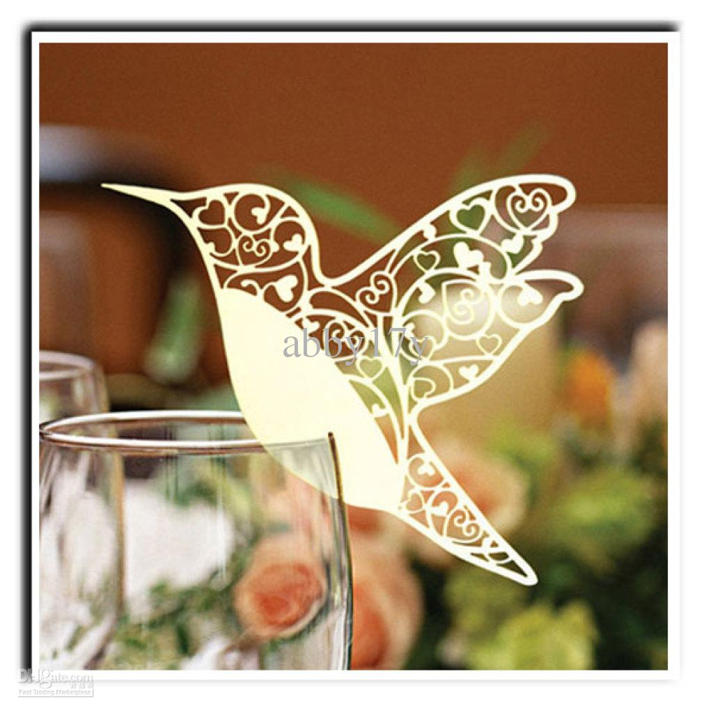 where to buy laser cut bird place cards online where can i buy 100pcs lot laser cutting wedding decoration pretty bird shape wine glass place cards bkxn010