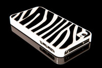 Wholesale New Zebra Glass Cellphone Mobile Phone Back Cover Housing Replacement for iPhone