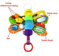 Infantil del bebé de la abeja de peluche de juguete juguetes educativos del vuelo de la abeja de la miel / muñeca confunde los juguetes del bebé del envío
