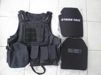 Wholesale Black Combat Tactical Bullet proof vest III Ceramic plates III