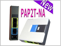 Wholesale Internet Telephony Portable UNLOCKED LINKSYS PAP2T NA SIP VOIP Phone Adapter with Ports