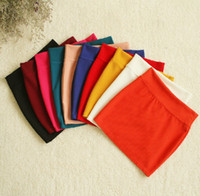 Wholesale Great Elasticity Cotton Short Skirts Half length Skirt Girl Lady Skirt Candy Skirts Colors Assorted