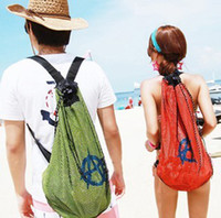 Wholesale DHL Free Hot sale fashion mesh Backpack Beach bag casual Swimming use Bag