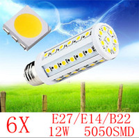 Wholesale 6X E27 E14 B22 W SMD LED Corn Light Bulb Lamp Lighting V warranty years CE ROHS