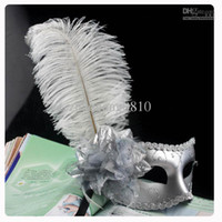Wholesale Hot selling Masquerade cool party long feather mask Venetian Mask Halloween mysterious mask