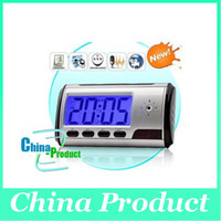 Wholesale HOT Clock Style Spy Clock Digital Spy Camera with Motion Detector Remote Control Drop Shipping