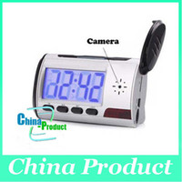 Wholesale Clock Style Spy Clock Digital Spy Camera with Motion Detector Remote Control Drop Shipping