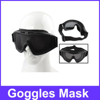 Wholesale Good Quality Steel Mesh Protective Goggles Mask Black