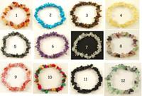 beaded gemstone bracelets - GEMSTONE Crystal Chip Beaded Stretch BRACELETS