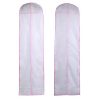 Wholesale 2 CM Ultra Long Size No Logo Wedding Dress Bag Garment Cover Evening Dress Dust Cover