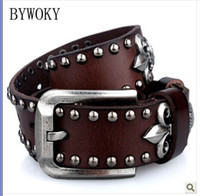 Wholesale Men s leather buckle belt belt belt men s fashion retro punk