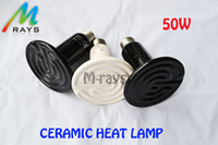 Wholesale 5pcs w Heat lamp Reptile pet appliances Flat type infrared ceramic heat lamp Reptile pet amphibian poultry