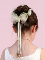 hair bun piece - Hair bun wrap for flower girl Wedding Accessory One Set Have Pieces
