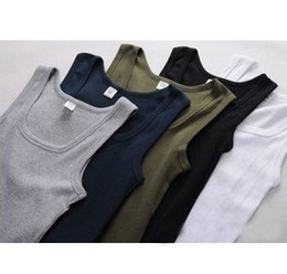 Wholesale 5pcs Mens Men Cotton Vest Tank Top Slim Sexy Stylish Tanks Tops Colours Size M L XL XXL