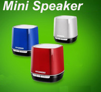 Wholesale Mini Bluetooth Speaker Wireless HiFi Loudspeaker Subwoofer Phone call TF Rechargeable For iPhone MP4 MP3 Tablet PC Music HYUNDAI i80
