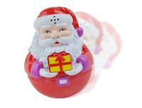 baby tumbler - Retail piece Baby toys Santa Claus style tumbler baby light emitting music toys Christmas gift