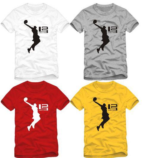 New arrival james basketball shirt slam dunk pint tee for Design your own basketball t shirt