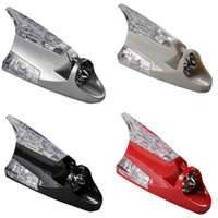 Wholesale Retail Fashion Shark Fin Car Wind Power Light Automotive Exterior Accessories LED Jewelry