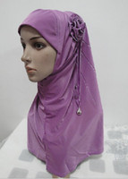 Wholesale H108 lastest muslim flower hijab fast delivery mixed colors
