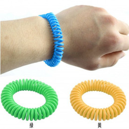 Wholesale 500PCS Mosquito Repellent Spring Bracelets Anti Mosquito Pure Natural Baby Wristband Hand Ring