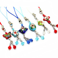 Wholesale Cell Phone Straps amp Charms Chinese Cloisonne beads cm
