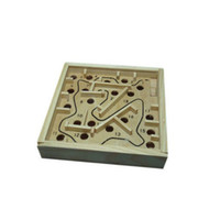 Wholesale Ziyu Kids Magic Maze Puzzle Game Tool Steel Ball Maze Educational Wooden Toy Christmas Gift