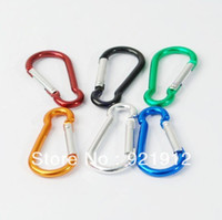 Quickdraws   6 X Aluminum Carabiner Camp Snap Hook Keychain Hiking