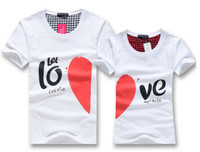 Wholesale men women couple tops t shirt summer fashion Korea style casual clothes brand designer printed cute cartoon character for lovers Tb29