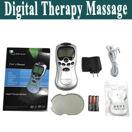 Wholesale New Full Body Massager Machine with USB AC Charger ABS LCD Digital Therapy Massage Machine with pc