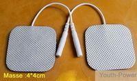 Wholesale 50PCS SQUARE TENS HINE ELECTRODE PADS REUSABLE cm x cm LONG LIFE Self Adhesive For Massage Mach