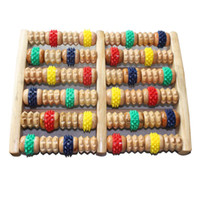 Wholesale Roller wooden foot massage device wool the foot department massage device the sole of the foot of th