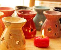 home fragrance oil - Ceramic Scented Oil Burners Classic Color Incense Burners Home Fragrance Oil Container Essential Oil Burner Cute Fragrance Deodorant Lamp